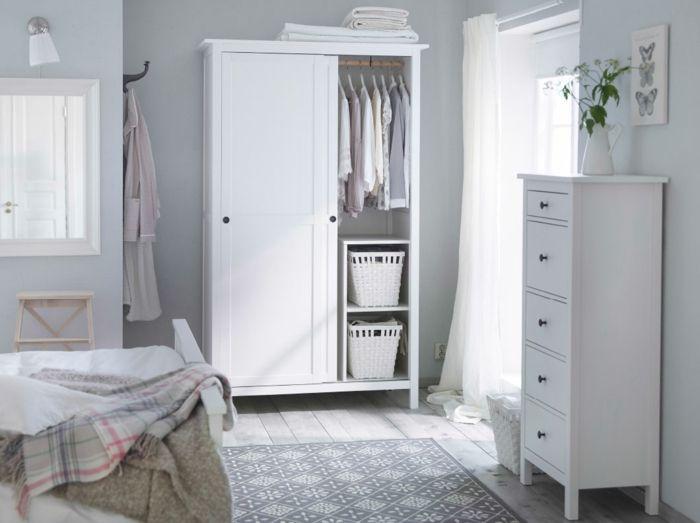 Ikea weiße Garderobe mit Schiebetüren Shabby Chic-Hochwertige Kleiderschränke für das Schlafzimmer