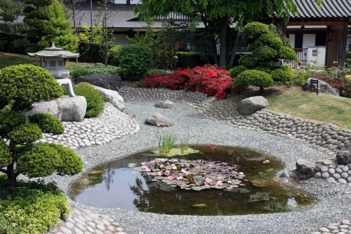 Japanischer Garten vor dem eigenen Haus-Gartengestaltung