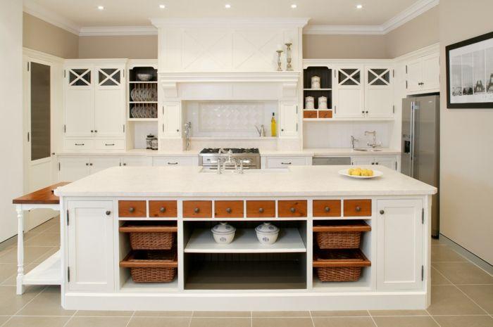 Kücheninsel Küchenorganisation modern Aufbewahrungskorb-Aufbewahrung