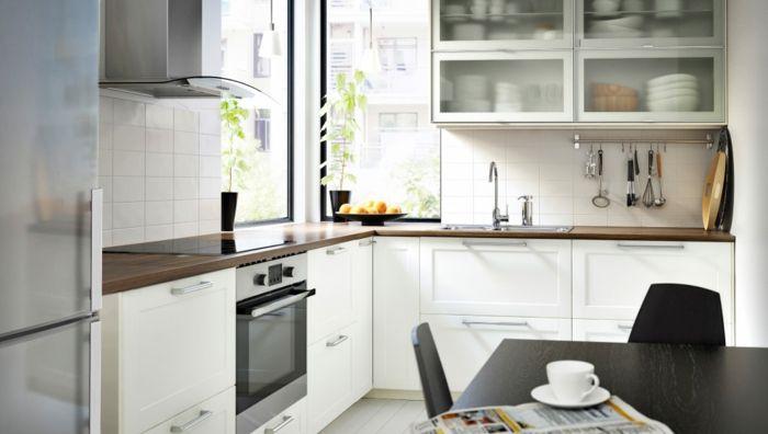 Kücheninspiration große Wandregale mit Frostglas-Küchenregale mit Glastüren