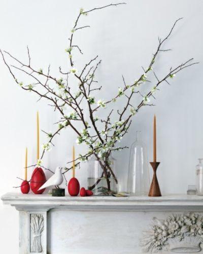 Kerzenhalter aus Holz-Dekoration Ostern