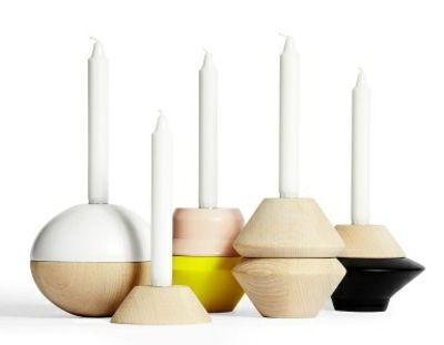 Kerzenhalter aus Holz in verschiedenen Formen-Kerzenhalter für Stabkerzen