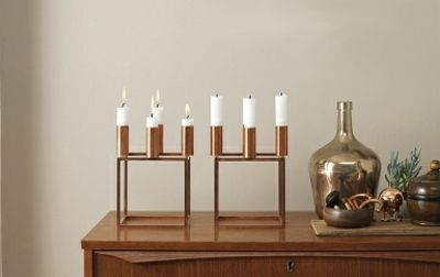 Kerzenhalter aus Metall für vier Kerzen-Kerzenständer Deko Ideen