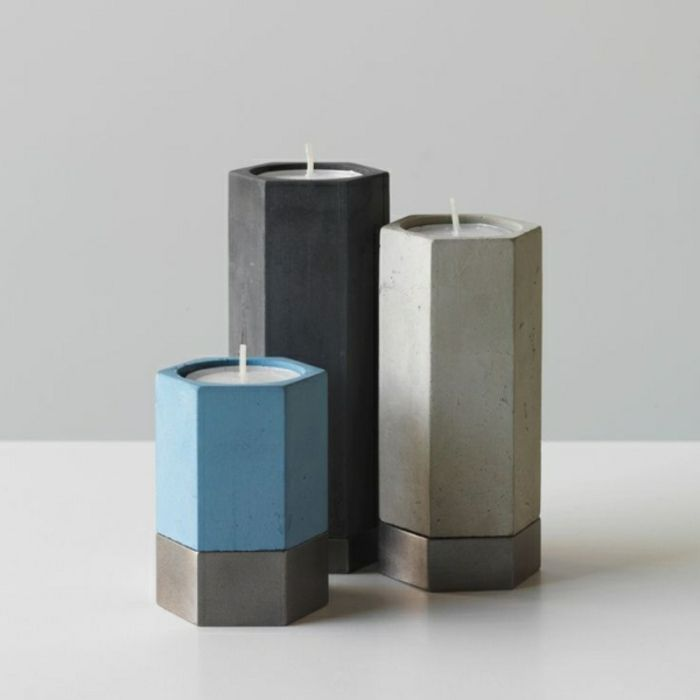 Kerzenhalter im minimalistischen Stil-zeitgenössische Deko Ideen für Ihr Zuhause
