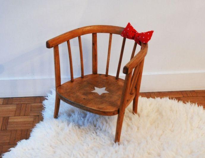 Kinderstuhl Holz Vintage