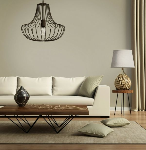 Klare Linien im Wohnzimmer- Skandinavisches Design
