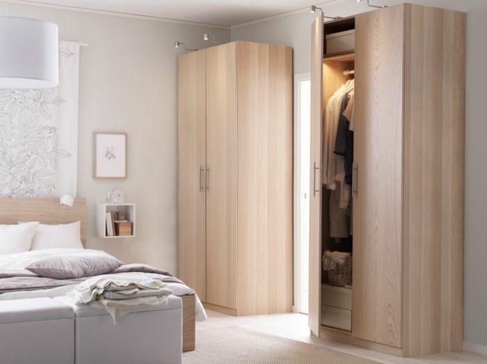 Kleine Garderobe mit Eicheneffekt-Hochwertige Kleiderschränke für das Schlafzimmer