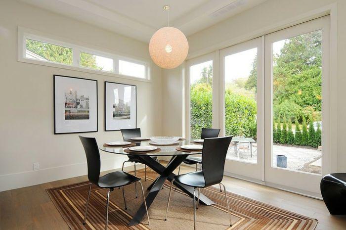 Komfort und Eleganz-Glastisch Esstisch aus Glas modern elegant