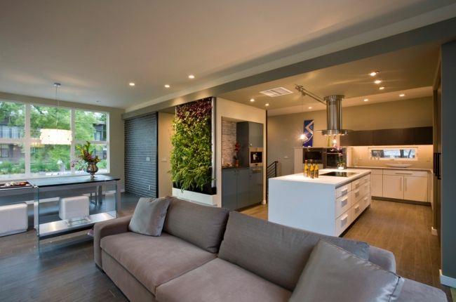 Komfortable Polsterung im minimalistischen Design-Wohn-Küche Einrichtung