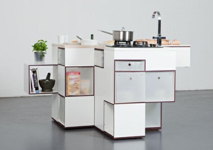 Kompakt Kochinsel Waschbecken Kochplatten Arbeitsplatten Weiß-Modernes Küchendesign