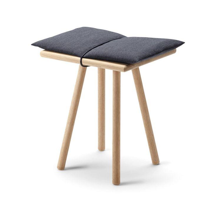 Konsolentisch aus Naturmaterialien im minimalistischen Stil-Hocker Eichenholz Designermöbel Designerstück einzigartig interessant