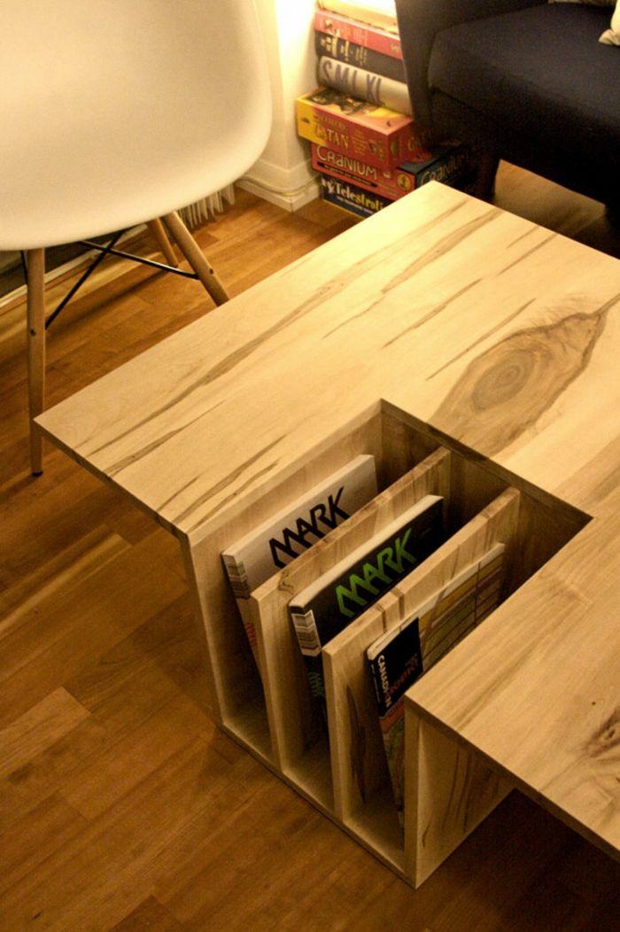 Kreative Idee-Buchablage aus Holz