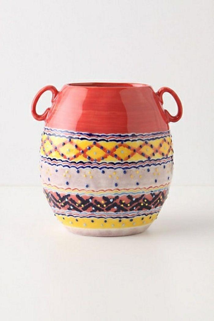 Kreative Idee für Vase aus Porzellan in Rot-Moderne Ideen für Vasen DIY