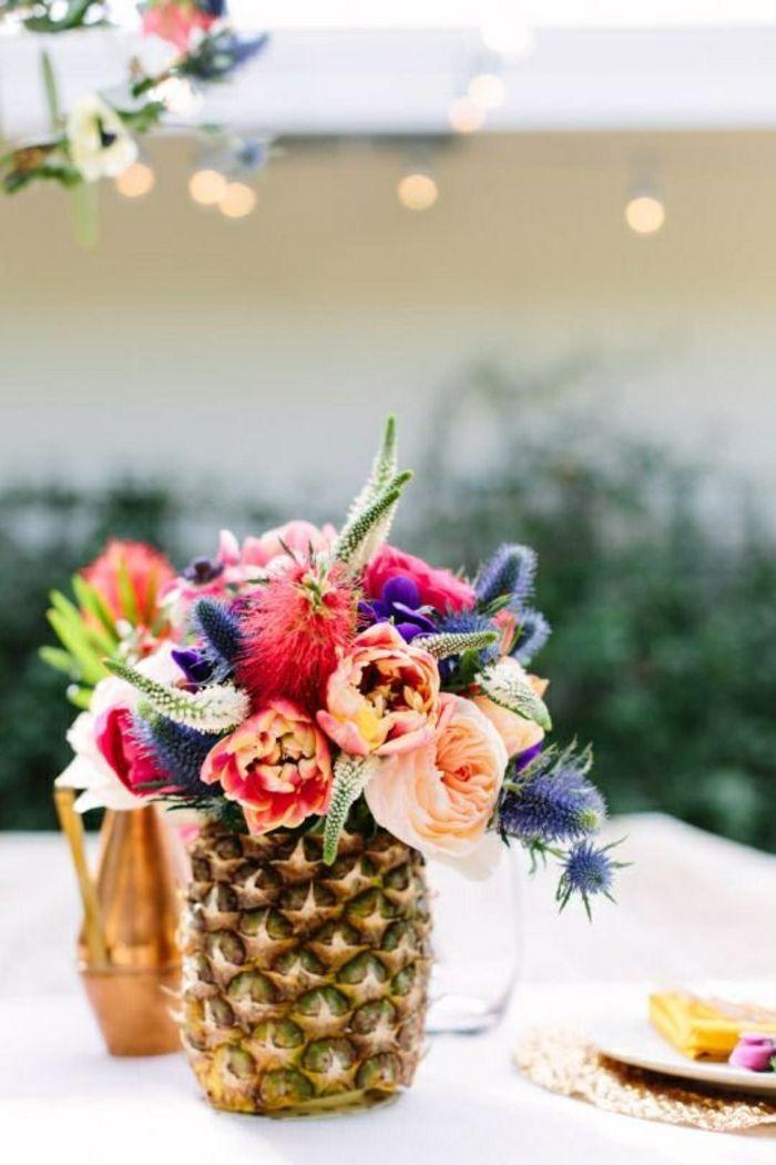 Kreative Idee mit bunten Frühlingsblumen-Moderne Ideen für Vasen DIY