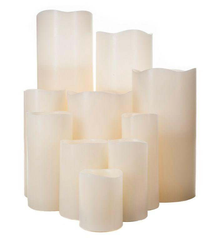 LED Kerzen in Elfenbein-Flammenlose Kerzen