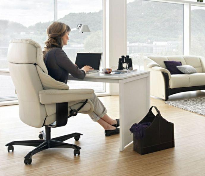 Lederstuhl Arbeitstisch-Ergonomische Bürostühle