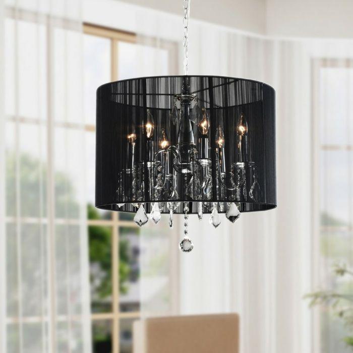Luxuriöse Deckenlampe schwarzer Lampenschirm-Die Wirkkraft des Kronleuchters