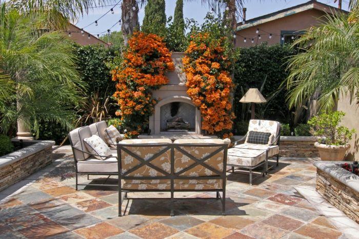 Mediterraner Garten Loungeset-Gartenmöbel aus Metall