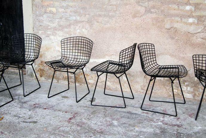 Metall Stühle Netz Design Vintage