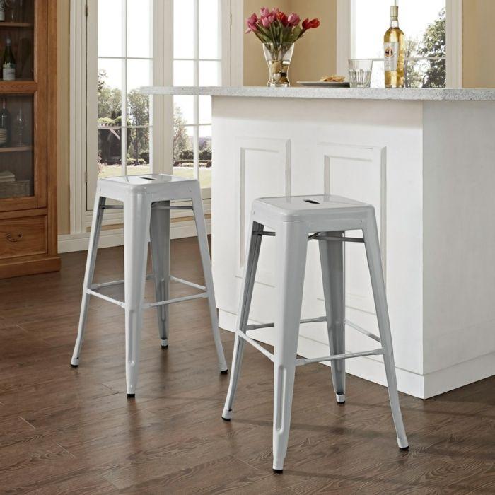 Minimalismus Barstühle aus Metall-Barhocker für Ihre Küche