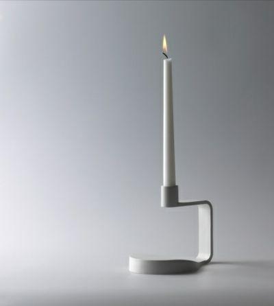 Minimalistischer Kerzenständer in Weiß-moderne Kerzenhalter