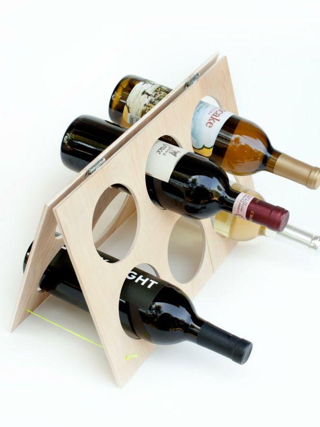 Minimalistisches Weinregal aus Eichenholz-Design Weinregal Weinlagerung Küche Dekoration