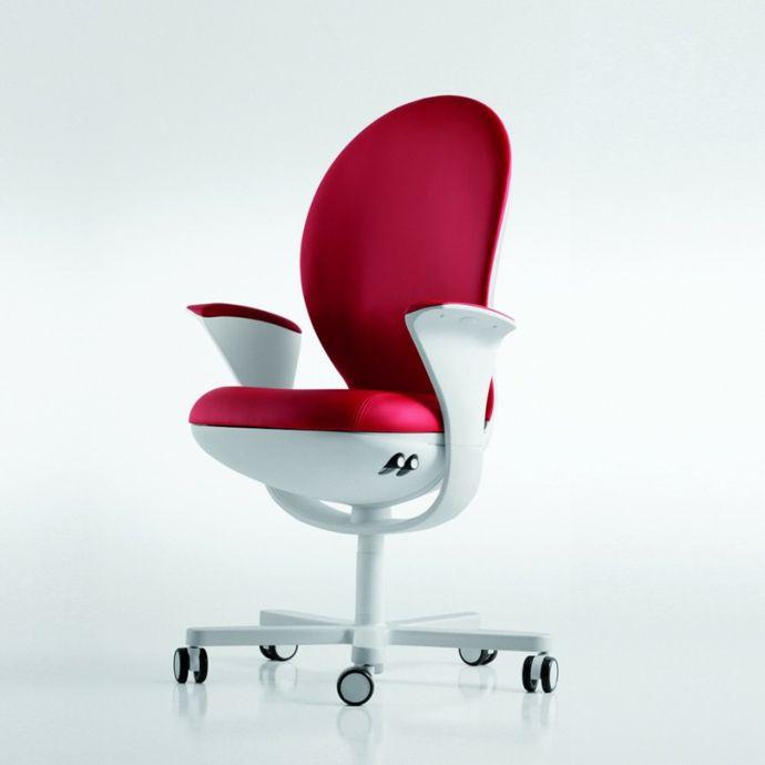 Modern Rot Weiß-Ergonomischer Bürostuhl