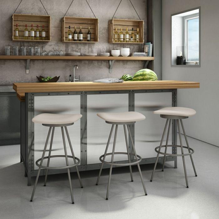 Moderne Einrichtung Barhocker mit Metallfüßen-Barhocker für Ihre Küche