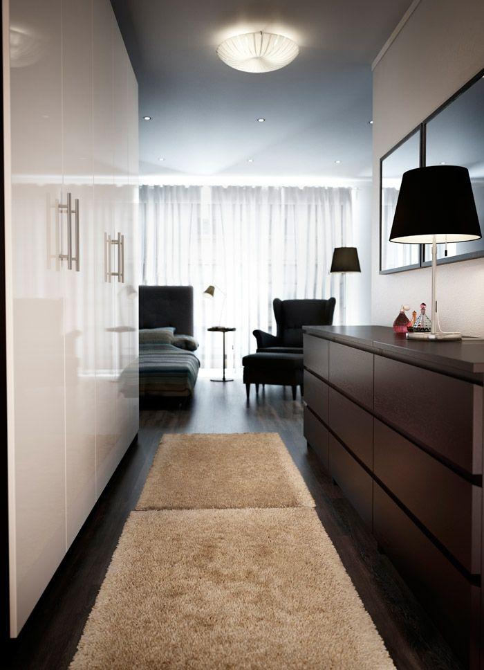 Moderne Einrichtung Weiße Garderobe Hochglanz-Hochwertige Kleiderschränke für das Schlafzimmer