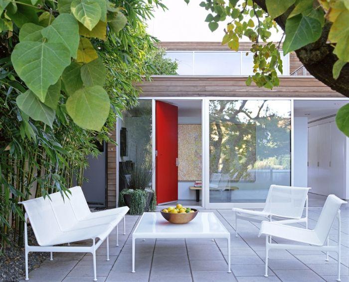 Moderne Sitzbank für den Innenhof-Gartenmöbel aus Metall