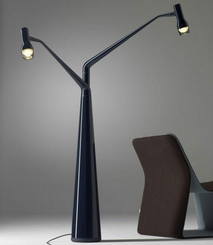 Moderne vintage stehlampe in schwarz lampen und leuchten