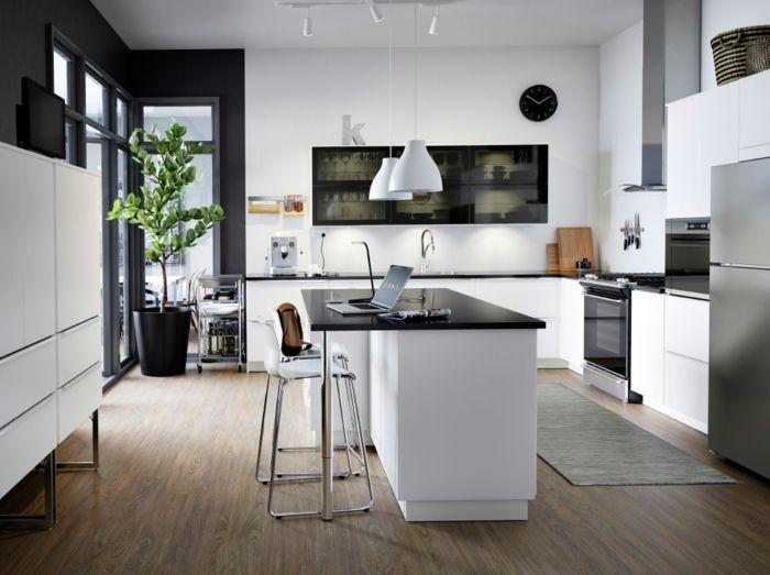 Moderne Wandregale in Schwarz-Küchenregale mit Glastüren