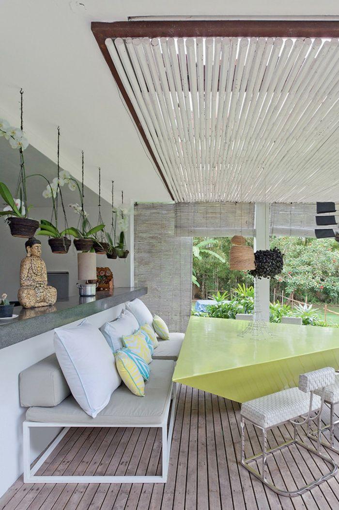 Moderner Designer-Tisch Hänge-Pflanztöpfe-Veranda Innenhof Gestaltung