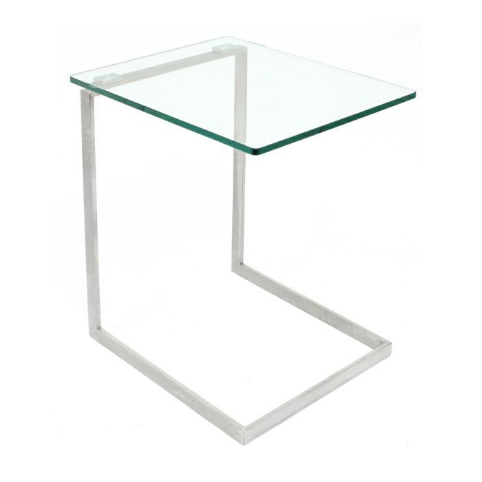 Modernes Akzentstück aus Glas und Metall-Couchtisch Wohnzimmer