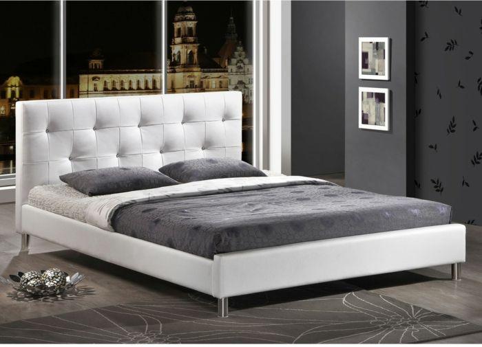 Modernes Bettgestell Polster Metall -Schlafzimmer Luxusbetten