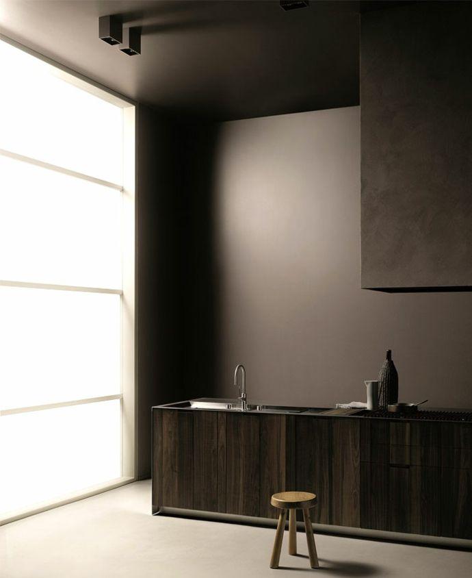 Modernes minimalistisches Spülbecken-Küchenplanung