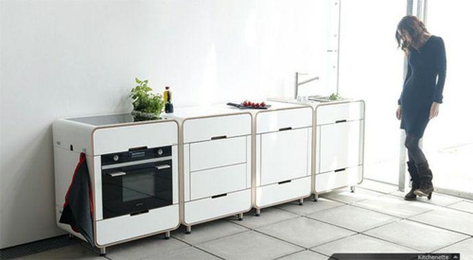 Modulsystem Holz Schubkasten High end-Modernes Küchenmöbel