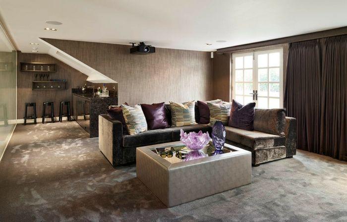 Trendige Ideen In Braun F R Ihr Wohnzimmer