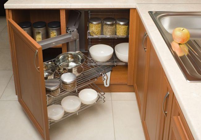 Organisation und Geschirraufbewahrung in der kleinen Küche-Feng Shui Ordnung Küche Küchenzubehör