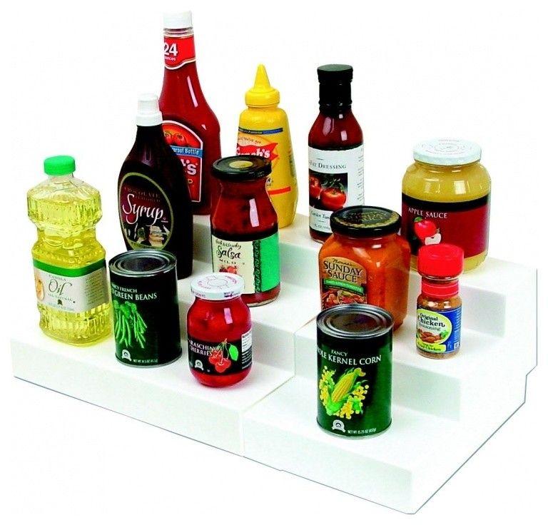 Organizer für Flaschen, Vorratsdosen und Einmachgläser-Organisation Küche Ordnung