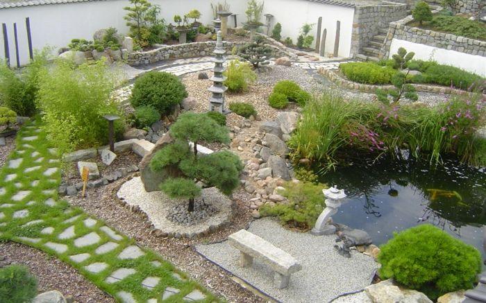 Ort fürs Nachdenken und Besinnen im eigenen Hof-Gartengestaltung