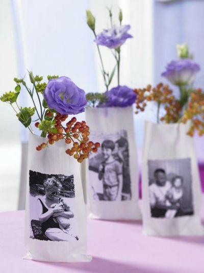 Papiertüten und Blumensträußchen für gute Stimmung-Schnelle und leichte selbstgemachte Geschenkideen DIY