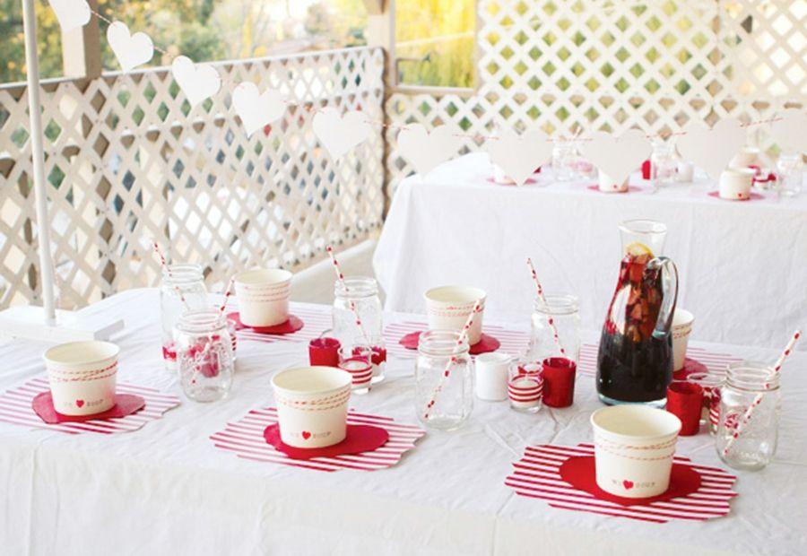Partygeschirr in Rot und Weiß für das gelungene Gartenfest-Partydeko Partydekoration Gartenparty Farbmotto Feier Fest