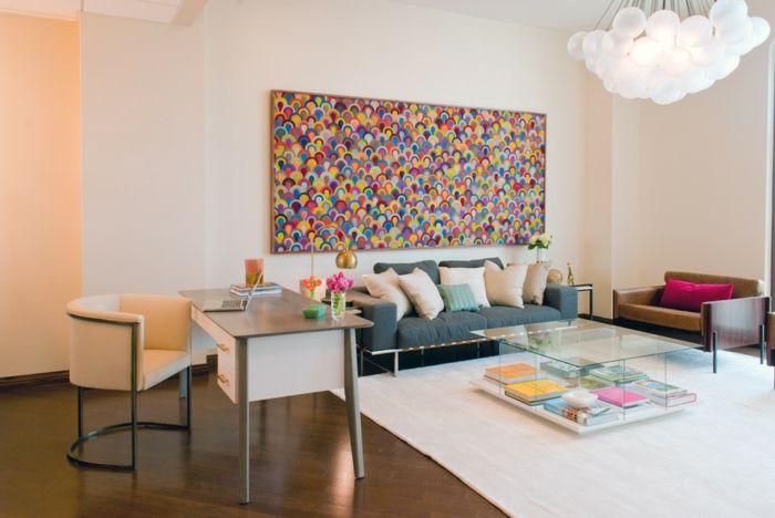 Pastellfarben und Gemütlichkeit-rechteckiger Couchtisch aus Glas Lagerung Zeitschriften stilvoll modern
