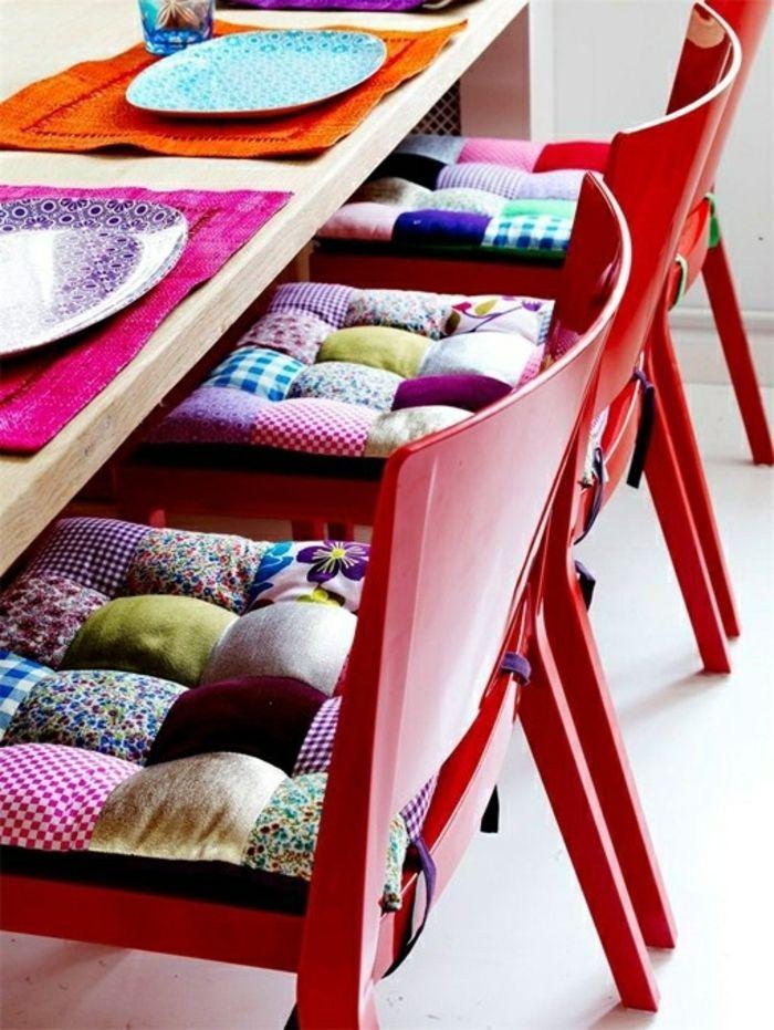 Die stuhlkissen komfortables und funktionales for Schaukelstuhl bunt