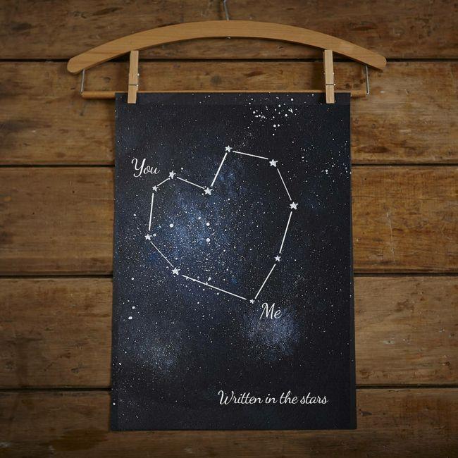 Personalisiertes Poster mit Konstellation-Valentinstag Geschenk Ideen
