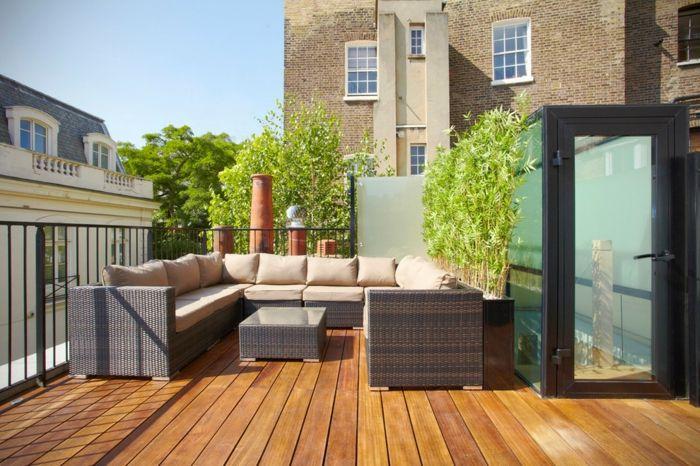 Privatsphäre auf dem Balkon mit Hilfe von Trennwand schützen-Paravent Trennwand Balkon Sichtschutz Pflanzen