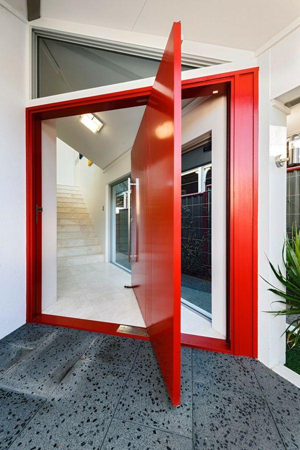 Privatsphäre stilvoll schützen-Designer Außentür