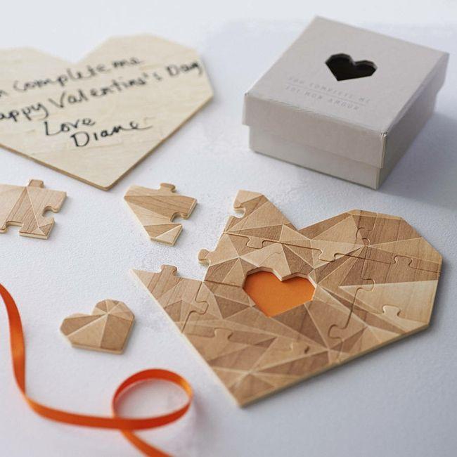 Puzzle in Herzform-Valentinstag Geschenk Ideen