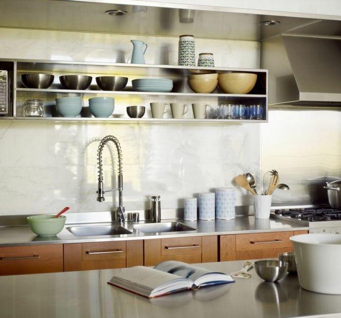 Retro und Modern- Küchen offene Regale
